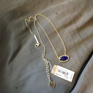 Kendra Scott Elisa Blue Colbalt Cats Eye/Gold
